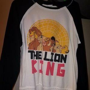 The Lion King crop sweatshirt.